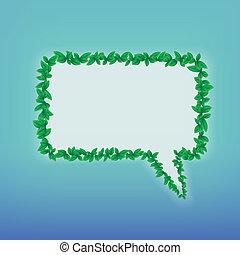 Ecology speech bubble
