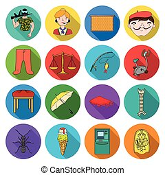 ecology, sport, nature and other web icon in flat style. leisure, hobbies, business icons in set collection.