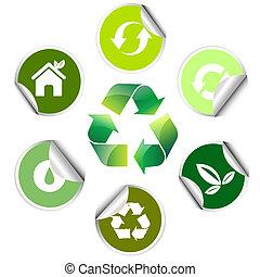 ecology sticker , icon
