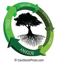 Ecology symbol - Illustration of ecology symbol on a white...