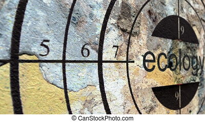 Ecology target grunge concept
