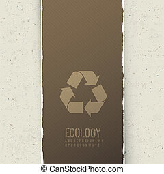 Ecology themed abstract background. Vector concept illustration, EPS10