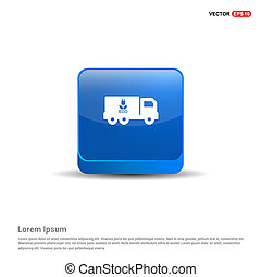 Ecology Truck icon - 3d Blue Button