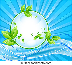 Ecology vector background