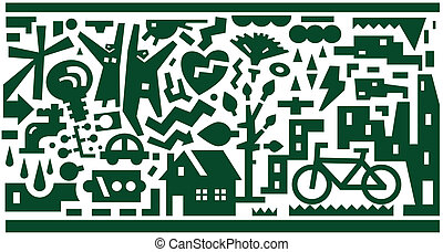 Ecology - vector background