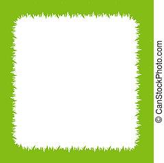Ecology vector grass frame