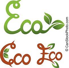 Ecology vector set.