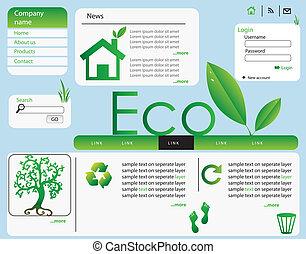 ecology web design vector