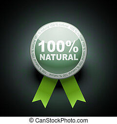 Ecology web push button icon. 100 percent
