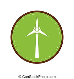 ecology wind turbine electricity generator green circle