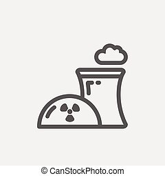 Ecology  with propeller design thin line icon