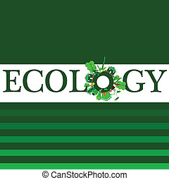 ecology word for background illustration