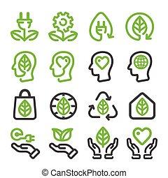 ecology,energy renewable line icon