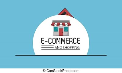 Ecommerce and shopping concept HD animation