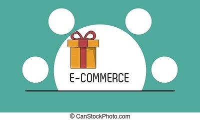 Ecommerce and shopping HD animation