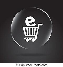 ecommerce design over black background. vector illustration...