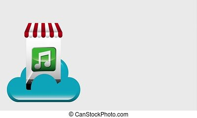 ecommerce cloud storage music chat video social media