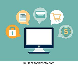 ecommerce design - ecommerce graphic design , vector...