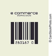 ecommerce design over white  background. vector illustration