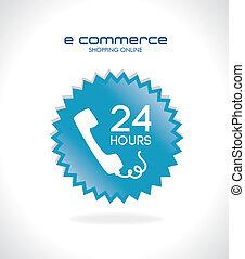 ecommerce design over gray  background. vector illustration