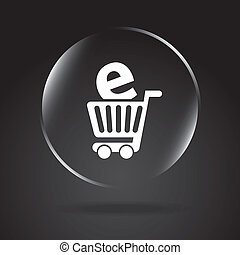 ecommerce design over black background. vector illustration