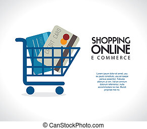 ecommerce design over gray  background. vector illustration