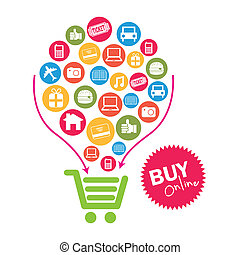 ecommerce design over white background vector illustration