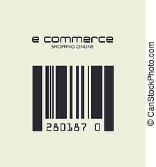 ecommerce design over white  background. vector illustration