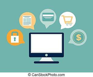 ecommerce design - ecommerce graphic design , vector...