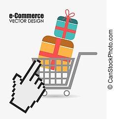Ecommerce design, vector illustration.