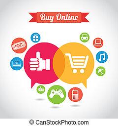 ecommerce design over gray background vector illustration