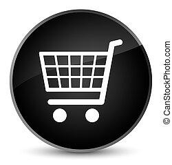 Ecommerce icon elegant black round button