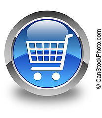 Ecommerce icon glossy blue round button 2