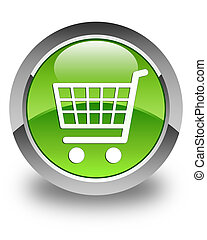Ecommerce icon glossy green round button 2