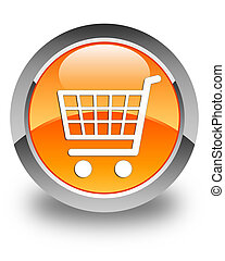 Ecommerce icon glossy orange round button 2