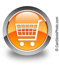 Ecommerce icon glossy orange round button 2