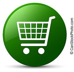 Ecommerce icon green round button