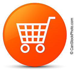 Ecommerce icon orange round button