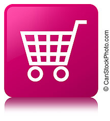 Ecommerce icon pink square button