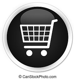 Ecommerce icon premium black round button