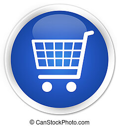 Ecommerce icon premium blue round button