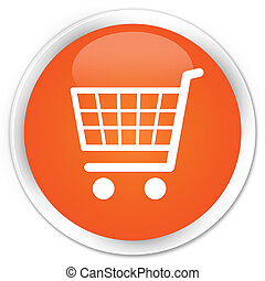 Ecommerce icon premium orange round button