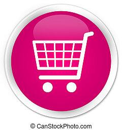 Ecommerce icon premium pink round button