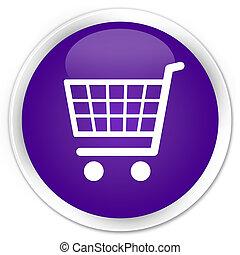 Ecommerce icon premium purple round button