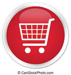 Ecommerce icon premium red round button