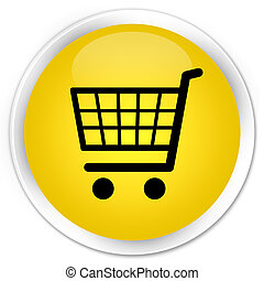 Ecommerce icon premium yellow round button