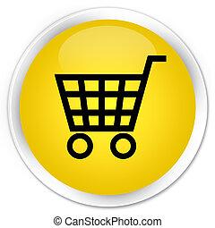 Ecommerce icon premium yellow round button