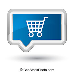 Ecommerce icon prime blue banner button