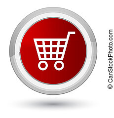 Ecommerce icon prime red round button