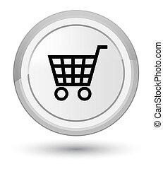Ecommerce icon prime white round button